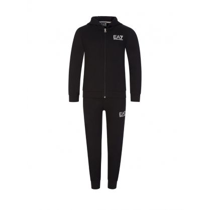 Junior Black 2-Piece Logo Tracksuit