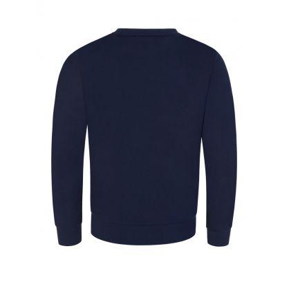 Junior Navy Camo Logo Sweatshirt