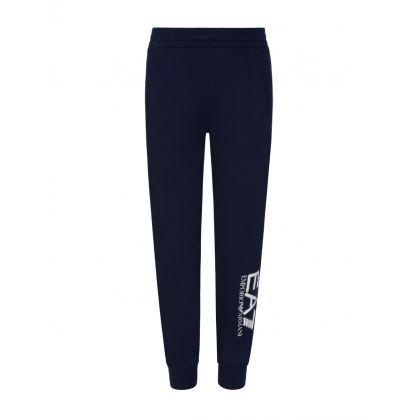 Junior Navy Leg Logo Sweatpants