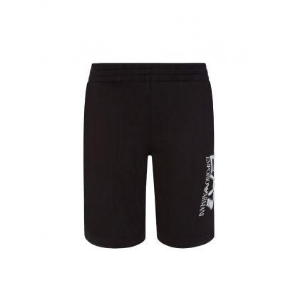 Junior Black Camo Logo Shorts