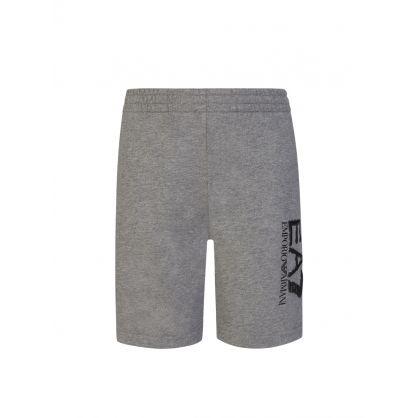 Junior Grey Camo Logo Shorts