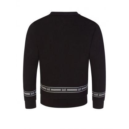 Junior Black Tape Logo Sweatshirt