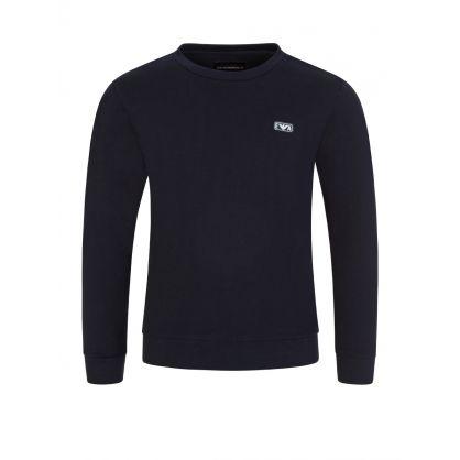 Junior Navy Rubber Logo Sweatshirt