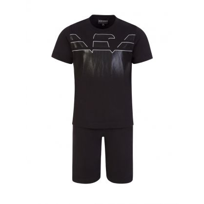 Junior Black T-Shirt & Shorts Set