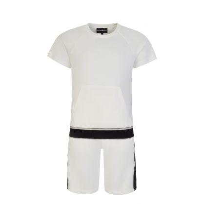 Junior Cream Two-Piece Top & Shorts Set