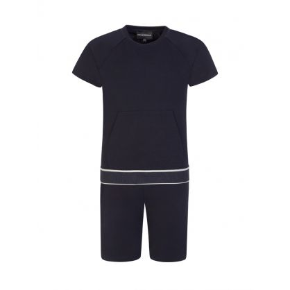 Junior Navy T-Shirt & Sweatpants 2-Piece Set