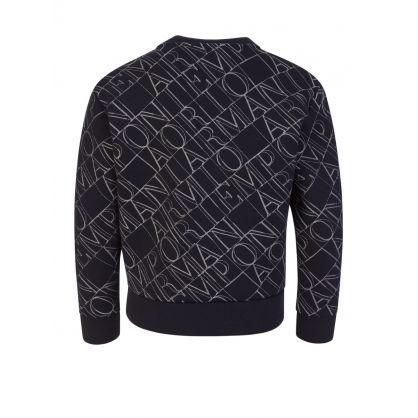 Junior Navy Embroidered Logo Sweatshirt