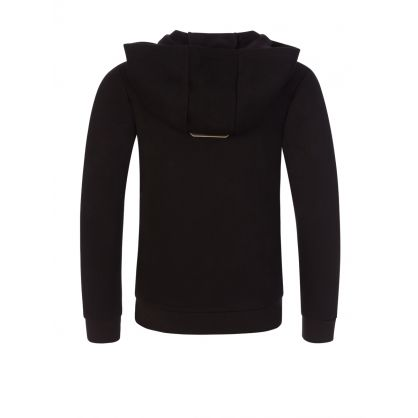Junior Black Eagle Logo Hooded Zip-Through