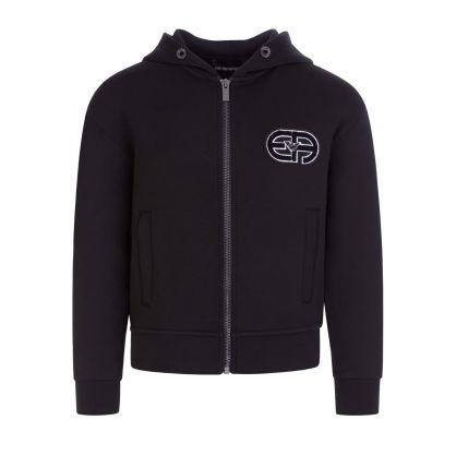 Junior Black R-EAcreate Patch Zip-Through Hoodie