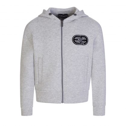 Junior Grey R-EAcreate Patch Zip Hoodie