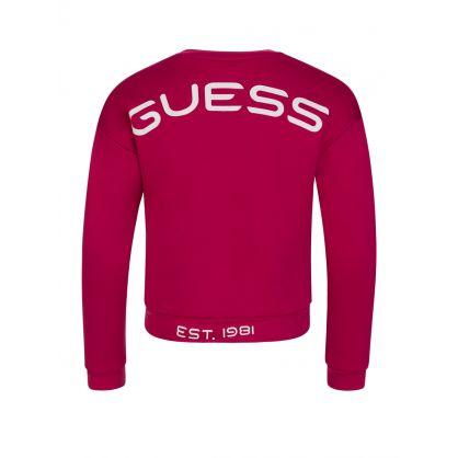 Kids Pink 1981 Logo Sweatshirt