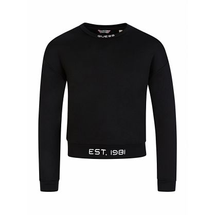 Kids Black Logo Sweatshirt