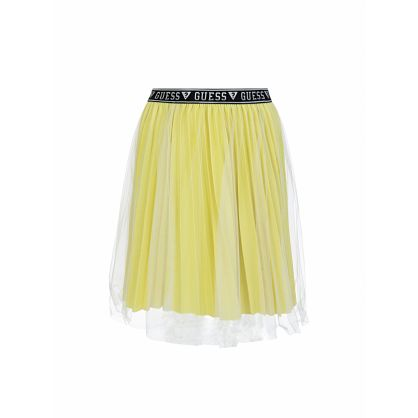 Kids Yellow Lurex Midi Skirt