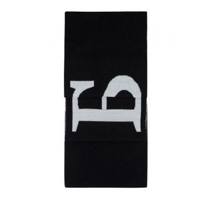 Kids Black Logo Scarf