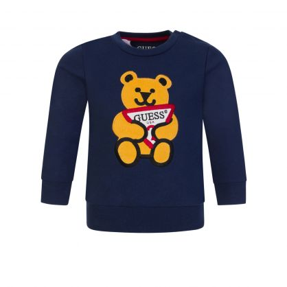 Kids Navy Blue Bear Sweatshirt