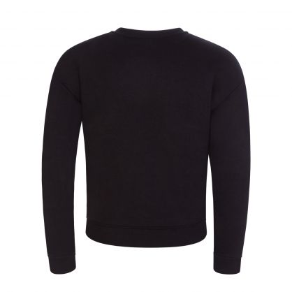 Kids Black Crystal Logo Sweatshirt