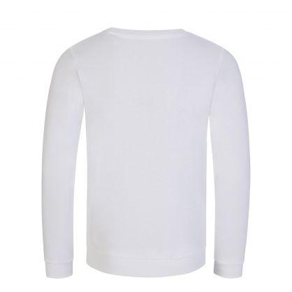 Kids White Activewear Logo Sweatshirt