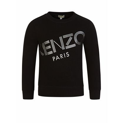 Black Paris Logo Sweatshirt