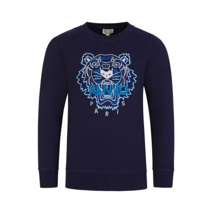 Navy Tiger Logo Sweatshirt