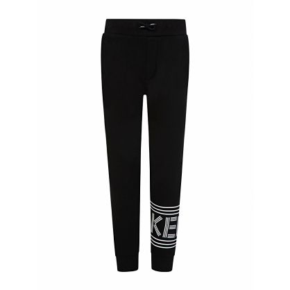 Black Paris Logo Sweatpants