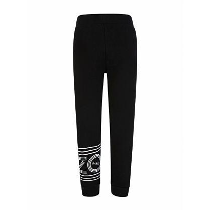 Black Paris Logo Sweatpants