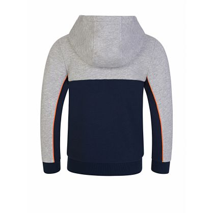 Grey Colour-Block Pocket Hoodie