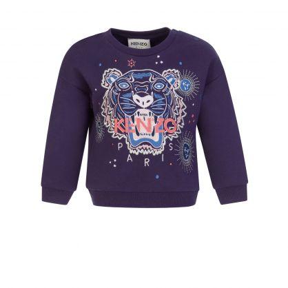 Blue Tiger Baby Sweatshirt