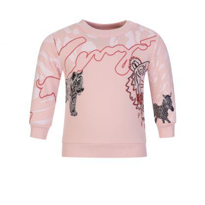 Pink Multi Iconic Print Sweatshirt