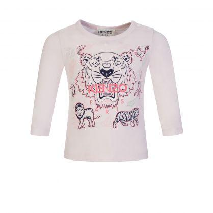 Pale Pink Tiger Print T-Shirt