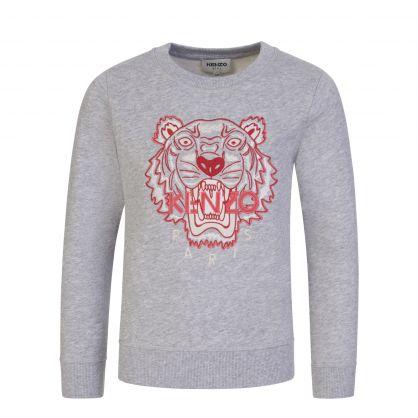 Light Grey Tiger Logo Sweatshirt