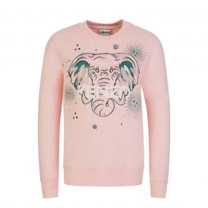 Pink Astrology Elephant Sweatshirt