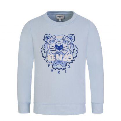 Pale Blue Organic Cotton Tiger Sweatshirt