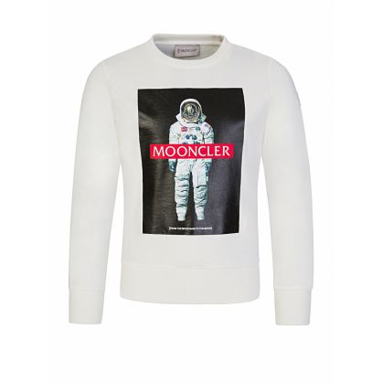 White Mooncler Astronaut Sweatshirt