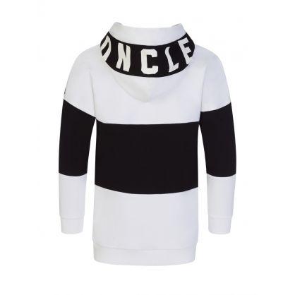 White/Black Stripe Hoodie