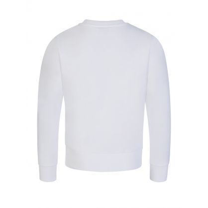 White Rubberised Logo Sweatshirt