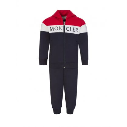 Navy Colourblock Logo Baby Tracksuit