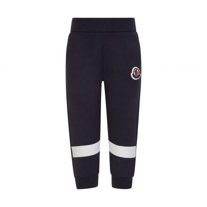 Navy Stripe Logo Sweatpants