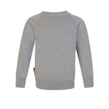 Grey Raglan Sleeve Logo Jumper