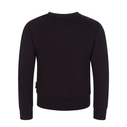 Black Lasered Logo Sweatshirt