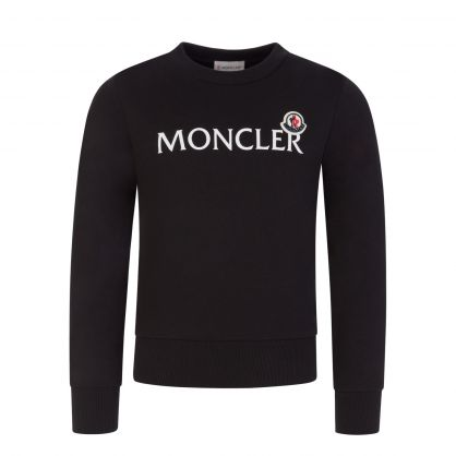 Black Lettering Logo Sweatshirt