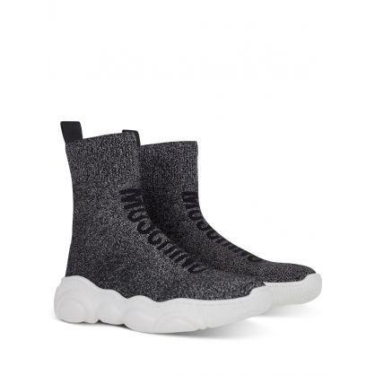 Black High-Top Sock Trainers
