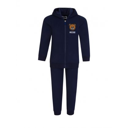 Kids Navy Bear 2-Piece Baby Tracksuit