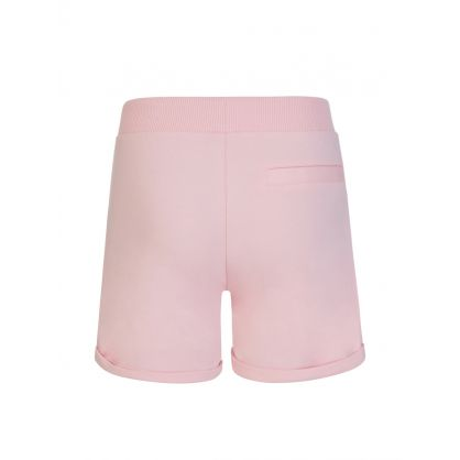Kids Pink Bear Logo Shorts