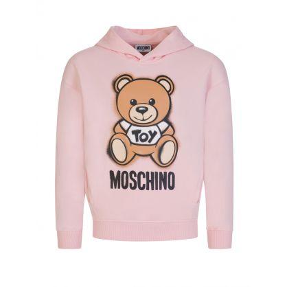 Kids Pink Bear Logo Hoodie