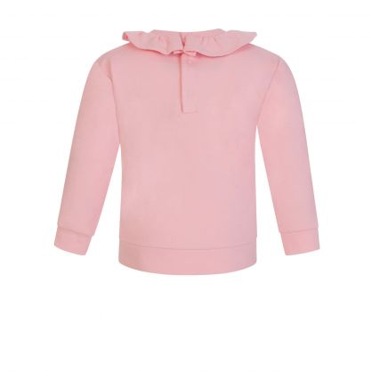 Kids Pink Bear Frill Sweatshirt