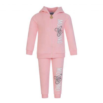Moshino Kids Pink Zip Through Baby Tracksuit