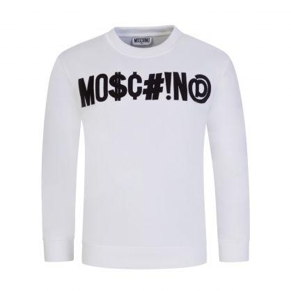 Kids White Logo Sweatshirt