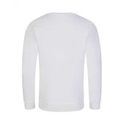 Kids White Multi-Logo Sweatshirt