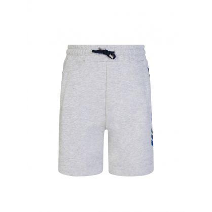 Kids Grey Logo Fleece Shorts
