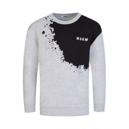 Kids Grey/Black Graffiti Sweatshirt